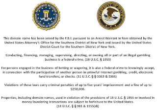Notice of Domain Seizure by the Department of Justice