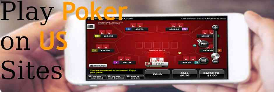 Example of play on a mobile device at a US poker site