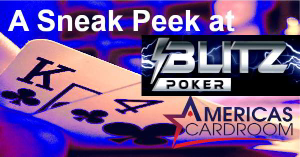 Blitz Poker Is Coming Soon to Americas Cardroom