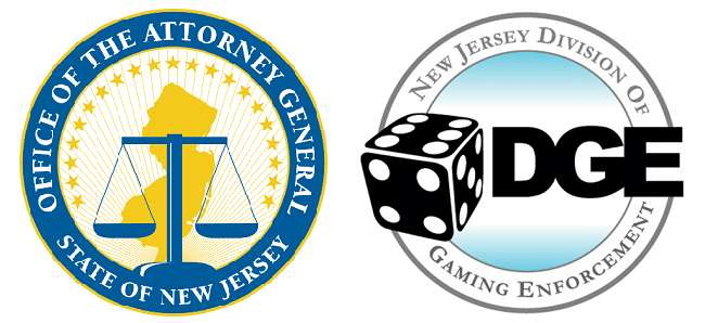 Logos of the New Jersey AG and DGE