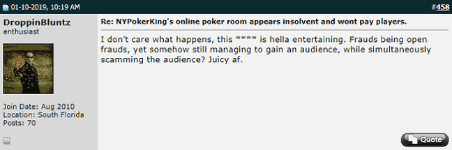 Twoplustwoer Finds NYPokerKing Story Entertaining
