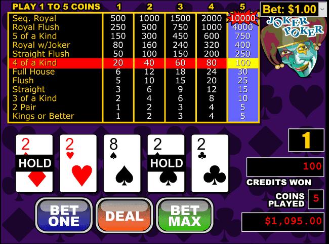 Spiele Joker Poker - 52 Hands - Video Slots Online