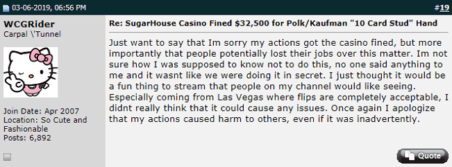Doug Polk Apologizes for the SugarHouse Incident