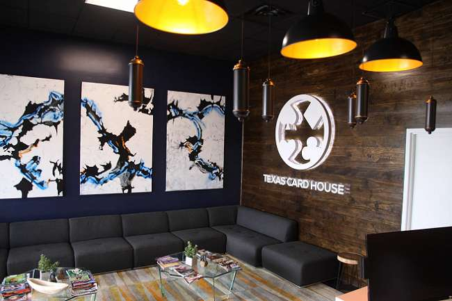 Lobby of Texas Card House