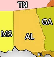 Alabama and Adjacent States