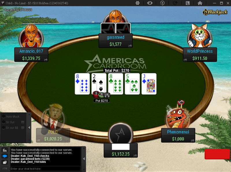 ACR Ring Game Table