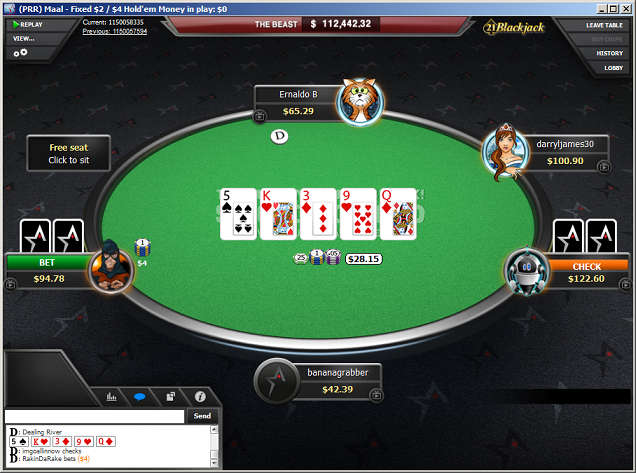 ACR Limit Hold'em Table