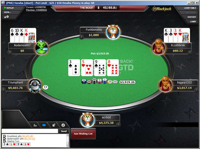 PLO Table at Americas Cardroom