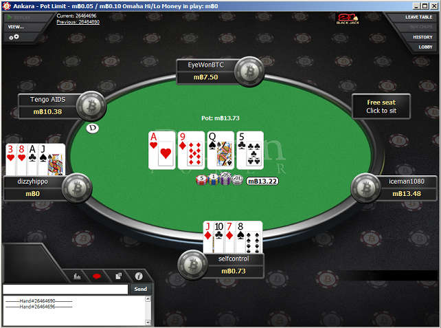 PLO Cash Game Table at Betcoin