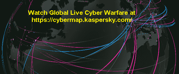 Captured live image of real time cyber warfare in 2018