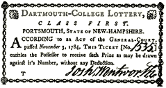 Colonial Lottery for Dartmouth College