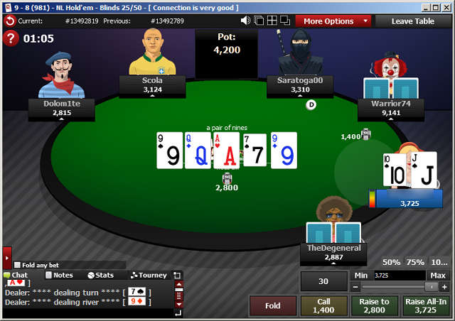 Freeroll Table at Grand Poker