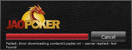 Jao Poker Software Loading Message