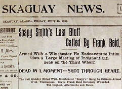 Newspaper Report on Soapy Smith's Death