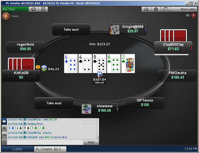 PLO Table at Sportsbetting Poker