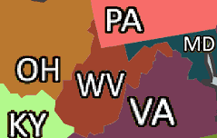 West Virginia and Adjacent States