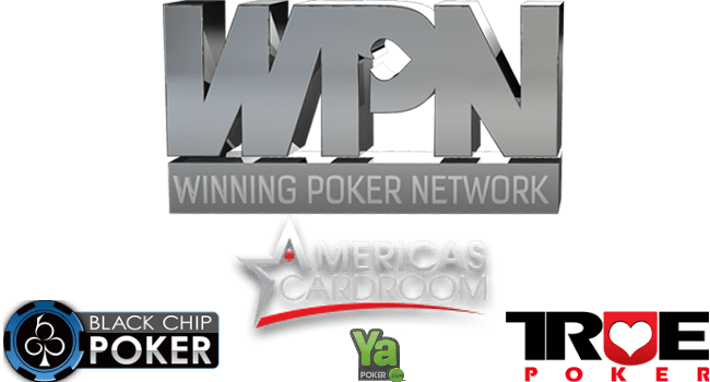 Winning Poker Network, ACR, BCP, True, Ya skins logos.
