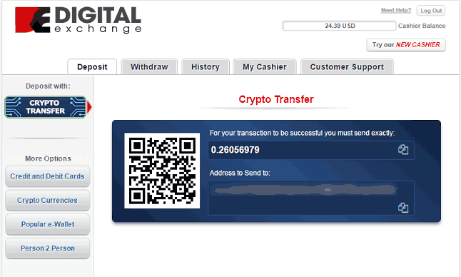 Step 5 of ACR Crypto Deposits