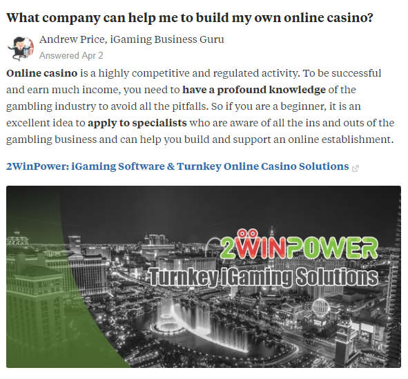 Answer About 2WinPower at Quora