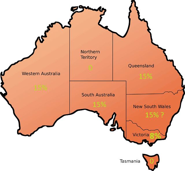 Map of PoC Taxes Across Australia