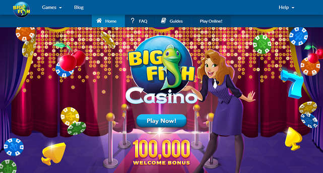 Screenshot of Big Fish Casino Home Page