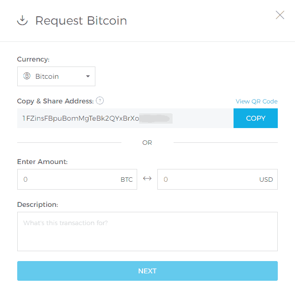 Creating New Bitcoin Receive Addresses at Blockchain.com