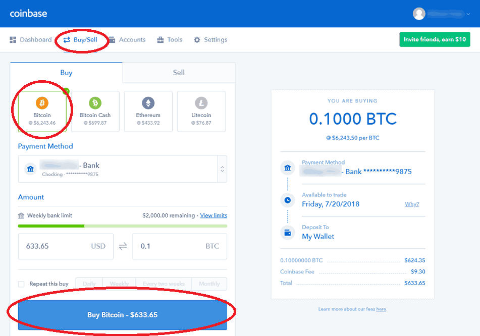 How to Buy Bitcoin at Coinbase