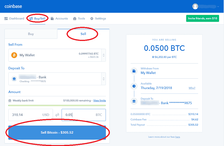 Transforming Bitcoins Into Dollars at Coinbase