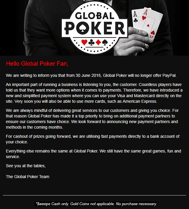 Exposed: Global Poker - Don't Deposit Real Money w/o Reading This!