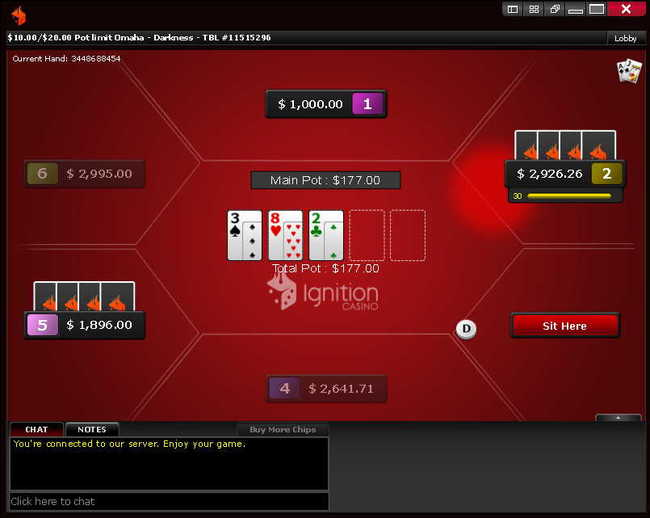 PLO Cash Game at Ignition Poker