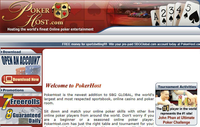 Old Website of PokerHost