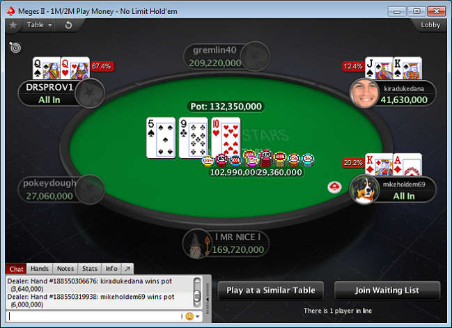 Play Money Game on PokerStars