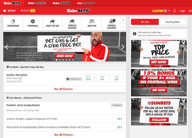 Sunbets Home Page