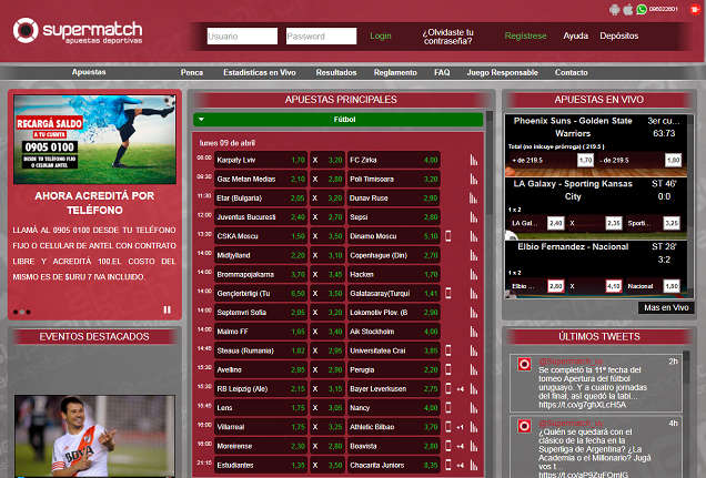 Home Page of Supermatch
