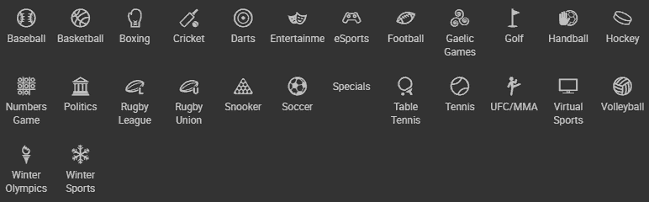 List of Sports Carried by the Bodog88 Sportsbook