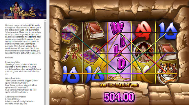 Bovada Casino Slot Machine: Arabian Tales