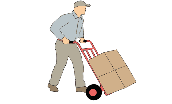 Man Delivering Packages