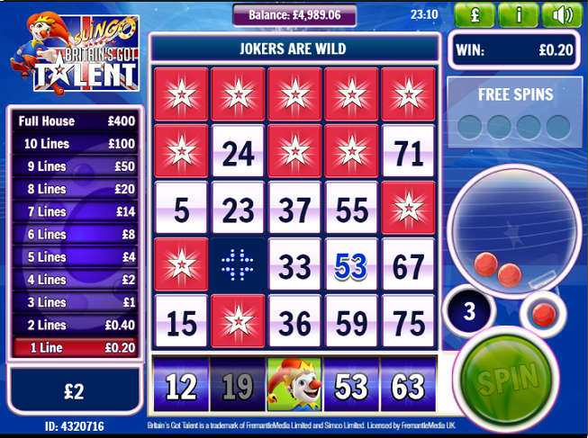 """Britain's Got Talent"" Online Casino Game"