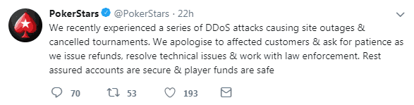 PokerStars Explains DDoS Attacks