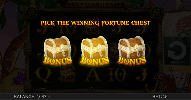 Chest Bonus in Arrogant Pirates