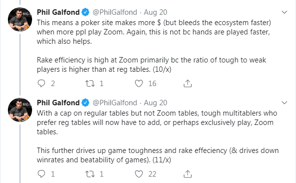 Phil Galfond Tweet About PokerStars Multitabling Changes