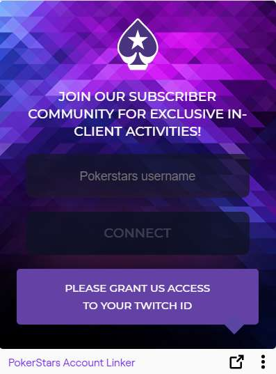Twitch Feature in PokerStars Client