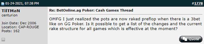 User Encounters Rake Taken in 3-Bet Pots That End Preflop