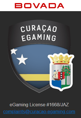 Curacao eGaming Seal Hosted on Bovada's Website