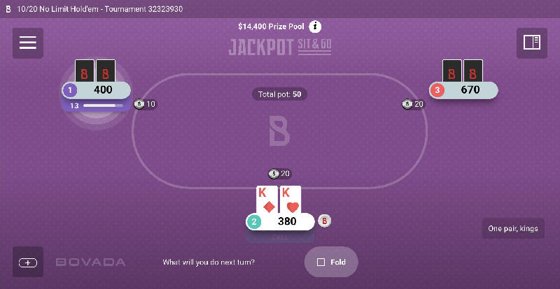 Jackpot Sit & Go on Mobile