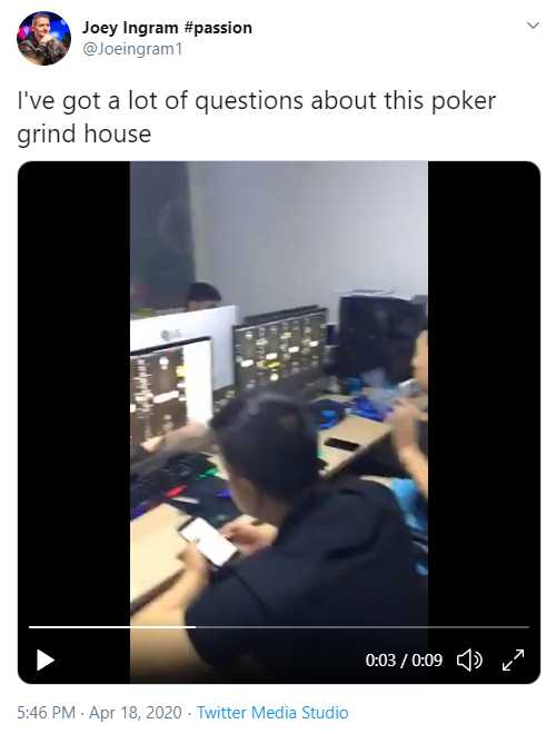 Tweet From ChicagoJoey About PPPoker