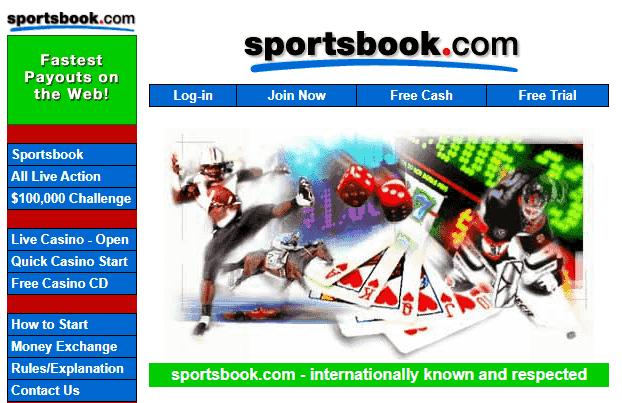 Old Sportsbook.com Website