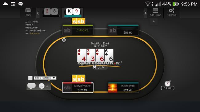 Sportsbook.ag Mobile Poker