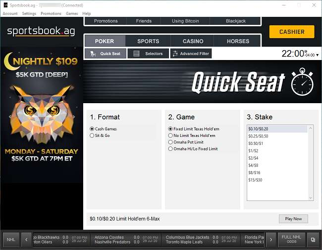 Sportsbook Quick Seat Function