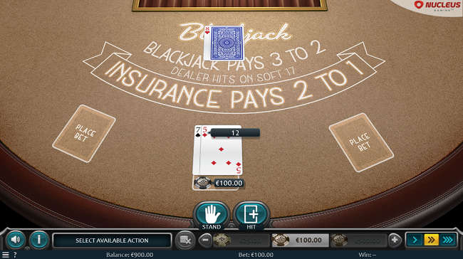 American Blackjack Table